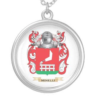 Escudo de armas de Minelli (escudo de la familia) Colgante Redondo
