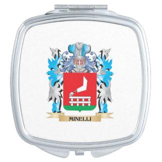 Escudo de armas de Minelli - escudo de la familia Espejos Maquillaje