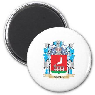 Escudo de armas de Minelli - escudo de la familia Imán Redondo 5 Cm