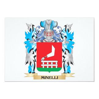 """Escudo de armas de Minelli - escudo de la familia Invitación 5"""" X 7"""""""