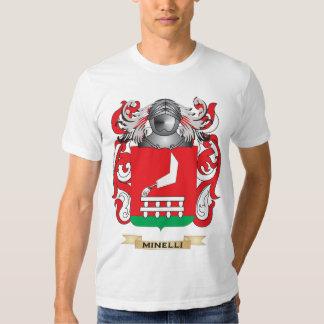 Escudo de armas de Minelli (escudo de la familia) Playera