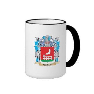 Escudo de armas de Minelli - escudo de la familia Taza A Dos Colores