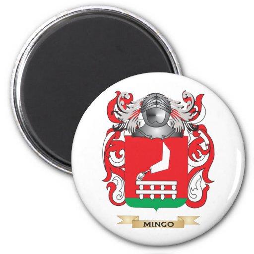 Escudo de armas de Mingo (escudo de la familia) Imán Para Frigorífico