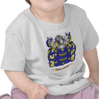 Escudo de armas de Mirando (escudo de la familia) Camisetas