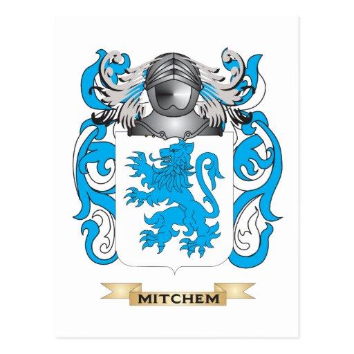 Escudo de armas de Mitchem (escudo de la familia) Tarjeta Postal
