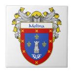 Escudo de armas de Molina/escudo de la familia Azulejo Cuadrado Pequeño