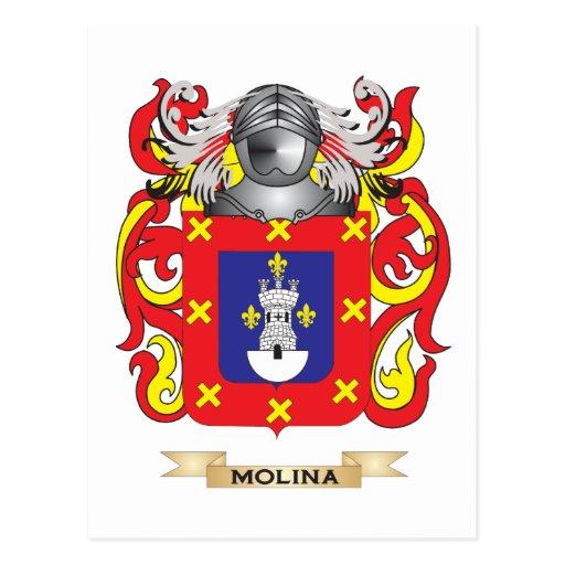 Escudo de armas de Molina (escudo de la familia) Postales