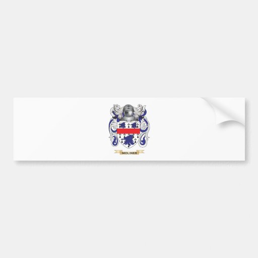 Escudo de armas de Moliner (escudo de la familia) Etiqueta De Parachoque