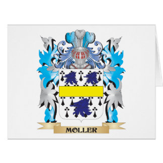 Escudo de armas de Moller - escudo de la familia Tarjeta De Felicitación Grande
