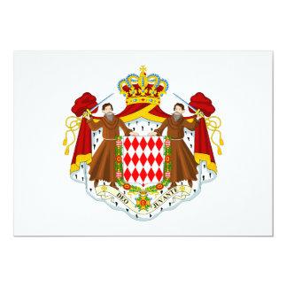 """Escudo de armas de Mónaco Invitación 5"""" X 7"""""""
