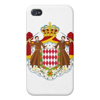 Escudo de armas de Mónaco iPhone 4 Fundas