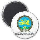 Escudo de armas de Mongolia Imanes Para Frigoríficos
