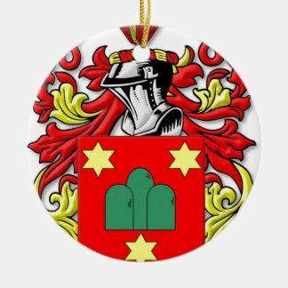 Escudo de armas de Montanaro Adorno Navideño Redondo De Cerámica