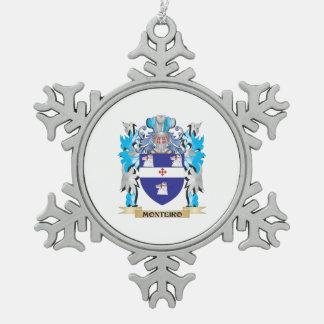 Escudo de armas de Monteiro - escudo de la familia Adorno De Peltre En Forma De Copo De Nieve