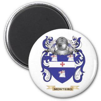 Escudo de armas de Monteiro (escudo de la familia) Imán Redondo 5 Cm