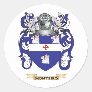 Escudo de armas de Monteiro (escudo de la familia) Pegatina Redonda