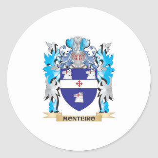 Escudo de armas de Monteiro - escudo de la familia Pegatina Redonda