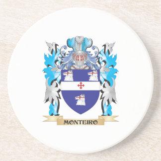 Escudo de armas de Monteiro - escudo de la familia Posavasos Cerveza