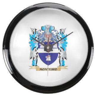 Escudo de armas de Monteiro - escudo de la familia Reloj Aquavista