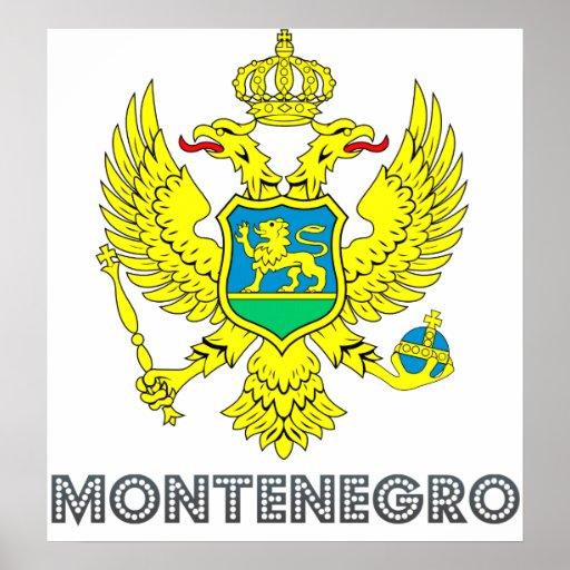 Escudo de armas de Montenegro Posters
