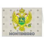 Escudo de armas de Montenegro Tarjeta