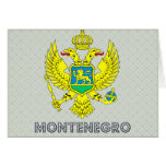 Escudo de armas de Montenegro Tarjetas