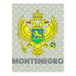 Escudo de armas de Montenegro Tarjetas Postales