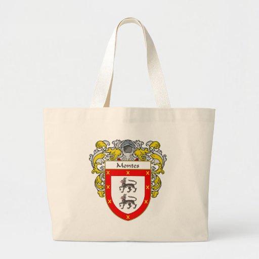 Escudo de armas de Montes (cubierto) Bolsa Tela Grande