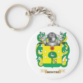 Escudo de armas de Montez (escudo de la familia) Llaveros