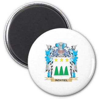 Escudo de armas de Montiel - escudo de la familia Imán Redondo 5 Cm