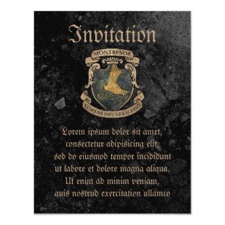 Escudo de armas de Montresor Invitación 10,8 X 13,9 Cm
