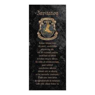 Escudo de armas de Montresor Invitación 10,1 X 23,5 Cm