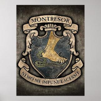 Escudo de armas de Montresor Poster