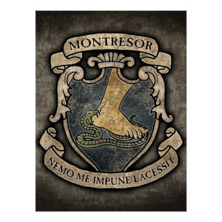 Escudo de armas de Montresor Póster