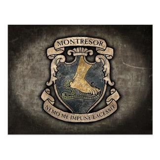 Escudo de armas de Montresor Postales