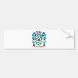 Escudo de armas de Mooney - escudo de la familia Pegatina De Parachoque