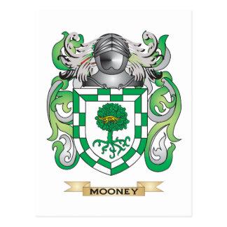 Escudo de armas de Mooney (escudo de la familia) Tarjetas Postales