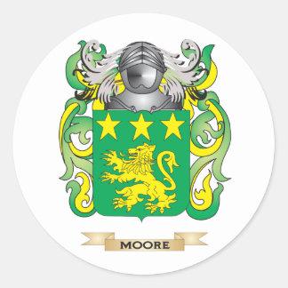 Escudo de armas de Moore escudo de la familia Etiqueta Redonda