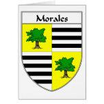 Escudo de armas de Morales/escudo de la familia Tarjeta De Felicitación