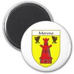 Escudo de armas de Moreno/escudo de la familia Imán Redondo 5 Cm
