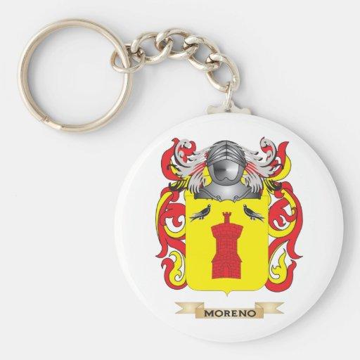 Escudo de armas de Moreno (escudo de la familia) Llavero Redondo Tipo Pin