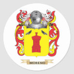 Escudo de armas de Moreno (escudo de la familia) Etiqueta