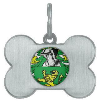 Escudo de armas de Morgan Placas De Nombre De Mascota