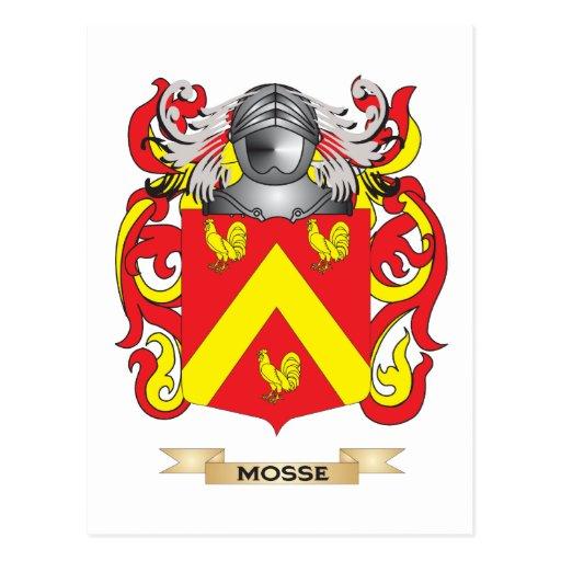Escudo de armas de Mosse (escudo de la familia) Tarjeta Postal