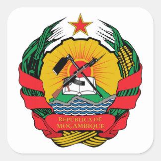 Escudo de armas de Mozambique Colcomanias Cuadradas Personalizadas
