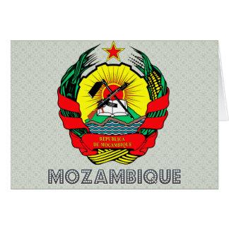 Escudo de armas de Mozambique Tarjeta De Felicitación