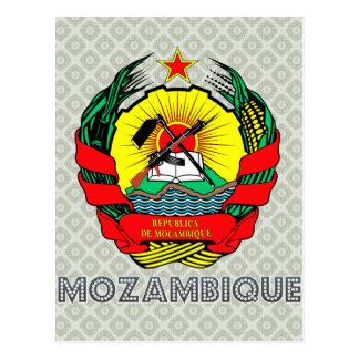 Escudo de armas de Mozambique Tarjeta Postal