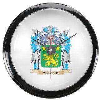 Escudo de armas de Mulcahy - escudo de la familia Reloj Pecera