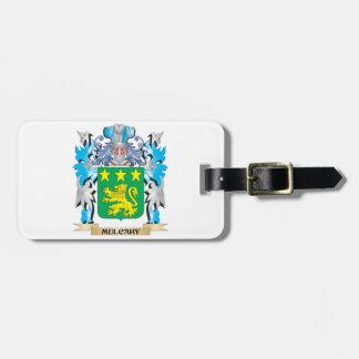 Escudo de armas de Mulcahy - escudo de la familia Etiquetas De Equipaje