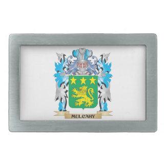 Escudo de armas de Mulcahy - escudo de la familia Hebillas De Cinturón Rectangulares